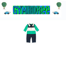 """GYMBOREE baby Boys """"We Have Arrived"""" Rugby Striped Footless One Piece New  3-6m - $21.95"""