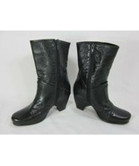 Vero Cuoio Women Boots Size 35.5 US 5 Black Leather Made in Italy  - $24.74