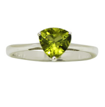 925 Sterling Silver Handmade Jewelry Ring Band In Peridot Stone Sz-7.5 S... - £6.88 GBP