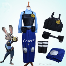 Zootopia Rabbit Bunny Officer Judy Hopps Costume Uniform Outfit - $129.00