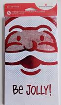 6 Be Jolly! Santa Face Christmas Money Gift Card Holders & Envelopes - $3.99