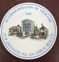 Plate- In Commemoration Of Your Visit 1999 Goebel - $11.30