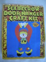 Halloween Scarecrow Craft Kit Door Hanger Ready To Assemble Scarecrow $1... - $3.95