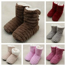 Women Home Shoes Plush Warm Winter Faux Fur Footwear Indoor Slippers Acc... - $12.34