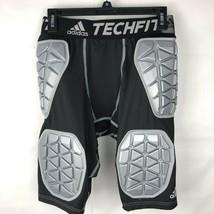 Adidas Rembourré Short Compression Hommes 5 Tampons Noir Techfit Basketball - $22.74