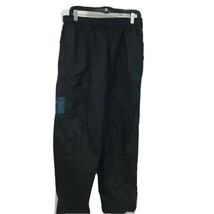 Nike Mens Activewear Pants Black Elastic Waist Pockets Mesh Lined Nylon L - $18.71