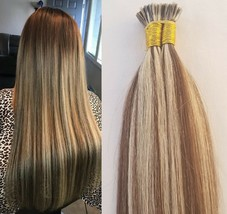 """18"""" 100grs,125s,I Tip (Stick Tip) Fusion Remy Human Hair Extensions #4/613 - $98.99"""