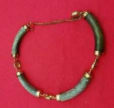 #2 Vintage Beautiful Jade Bracelet Gold Filled  (#503) - $49.00