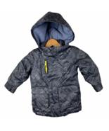 American Eagle Jacket 18-24 Months Boy Winter Fleece Lined Hooded Gray S... - $19.24