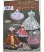 "SIMPLICITY 5800 11½"" Fashion Doll FAIRY PRINCESS BRIDE PATTERN Uncut OOP - $12.99"