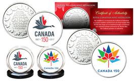 CANADA 150 CELEBRATION RCM Royal Canadian Mint Colorized Medallions 2-Co... - $9.85