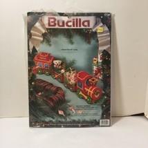 "Holiday Express Plastic Canvas Kit Bucilla 25"" Long 4 Piece Train - $14.50"