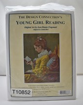 The Design Connection's Young Girl Reading Counted Cross Stitch Kit NEW - $23.70