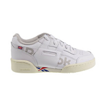 Reebok Workout Plus Altered Little Kids' Shoes White-Dark Royal-Red-Grey... - $38.97