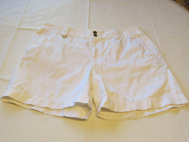 Womens Lauren Ralph Lauren shorts cotton short 16 white EUC@ - $23.78