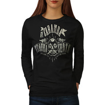 Tequila Shots Fashion Tee Worm Bottle Women Long Sleeve T-shirt - $14.99