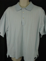Peter Millar Mens Large Blue Window Pane Cotton Polo Shirt Short Sleeve image 2