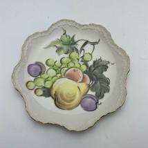 Lefton Fruit Handpainted Decrative Plate NE2043FP Made In Japan - $16.82