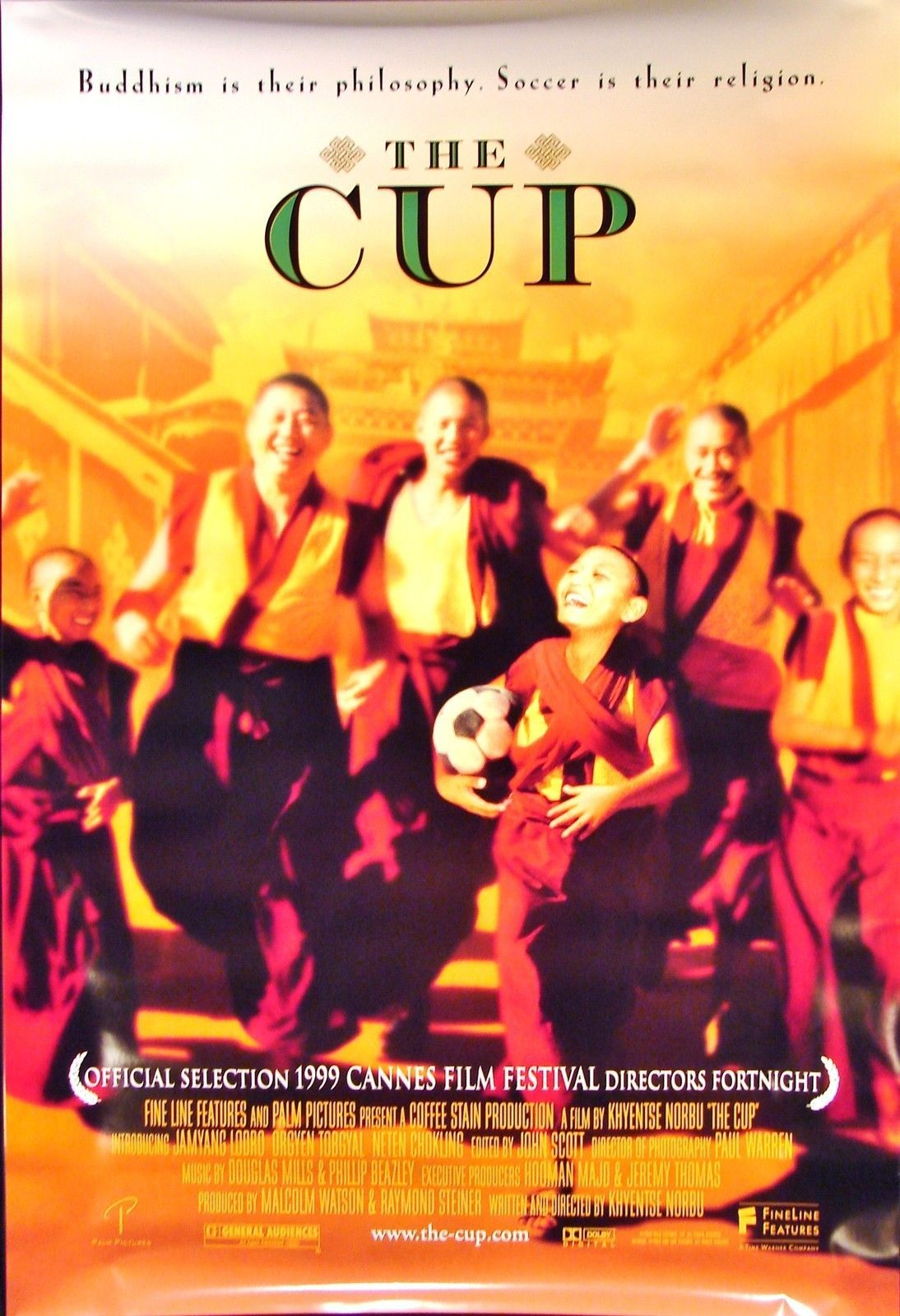 1999 THE CUP Movie POSTER 27x40 Motion Picture Promo soccer