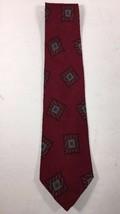 Giorgio Armani Tie Men's 100% Silk Neck Made in Italy Maroon Black Gray Turq - $15.87