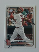 2021 Bowman Base #35 Dylan Carlson - St. Louis Cardinals RC - $1.97