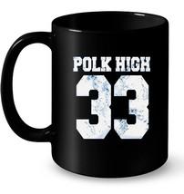 POLK HIGH 33 FOOTBALL RETRO VINTAGE DISTRESSED AL Gift Coffee Mug - $13.99+