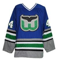 Any Name Number Whalers Retro Hockey Jersey Blue Pronger #44 Any Size image 4
