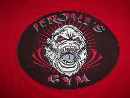 """""""Jerome's Gym"""" Bodybuilding Weight Lifting Exercise Red Graphic Print T ... - $17.17"""