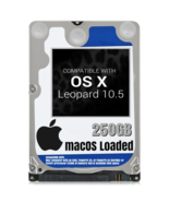 macOS Mac OS X 10.5 Leopard Preloaded on 250GB Sata HDD - $24.99