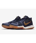 NIKE KYRIE III 3 GS OBSIDIAN METALLIC GOLD WHITE 859466 400 US YOUTH SIZE 5Y  - $108.89