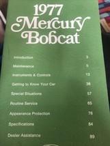 1977 Mercury Bobcat Owners Manual Owner's Guide Book - $10.88