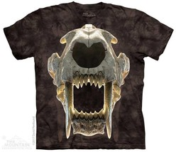 SABERTOOTH SKULL ADULT T-SHIRT THE MOUNTAIN - ₹1,318.03 INR+