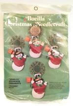 Bucilla Christmas Needlecraft Jeweled Doorknob Snowmen Ornaments  IOP - $18.99