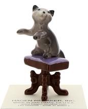 Hagen-Renaker Miniature Ceramic Figurine Keyboard Cat on Bench Playing Piano image 4