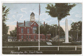 Court House Farmington Maine 1909 postcard - $5.94