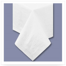 54 x 54 White Tablecover 2 Ply Tissue 1 Ply Poly/Case of 50 - €129,84 EUR