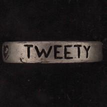 RING TWEETY BIRD WARNER BROS LOONEY TUNES WB GIFT PEWTER WEDDING BAND 5832 - $15.83