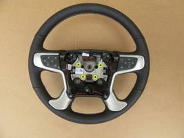 OEM 2015-2018 GMC Yukon Black Leather Steering Wheel 84222927 - $135.00