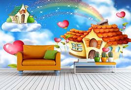 3D Cartoon -regenbogen 868 Fototapeten Wandbild Fototapete BildTapete Familie DE - $52.21+