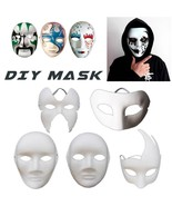 Friendly Paper Pulp Mask Do It Yourself Full Face Halloween Scary Nice S... - $9.95