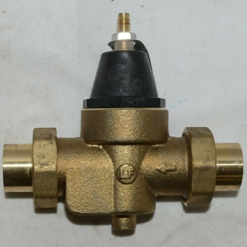 Watts Water Pressure Reducing Valve 0009493 Double Union Solder End Connections