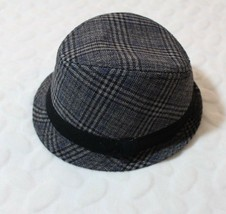 Childrens Place Boys Hat Size 2-4 Black Gray Plaid Bucket Fedora Dress H... - $19.57