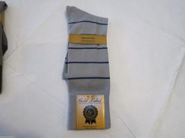Gold Label Roundtree & Yorke Pima socks grey f358r207 Reinforced Arch Me... - $6.76