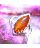 Haunted RING POWERFUL IRISH WITCH SPIRIT MAGICK RING 925 AMBER Cassia4  - $157.77