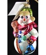 Christopher Radko HOT & FROSTIES Snowman Poland 1999 Glass Christmas Orn... - $44.55