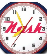 Nash Automobile Neon Wall Clock Hand Made USA 20 Inch Red White Blue Gam... - $326.58