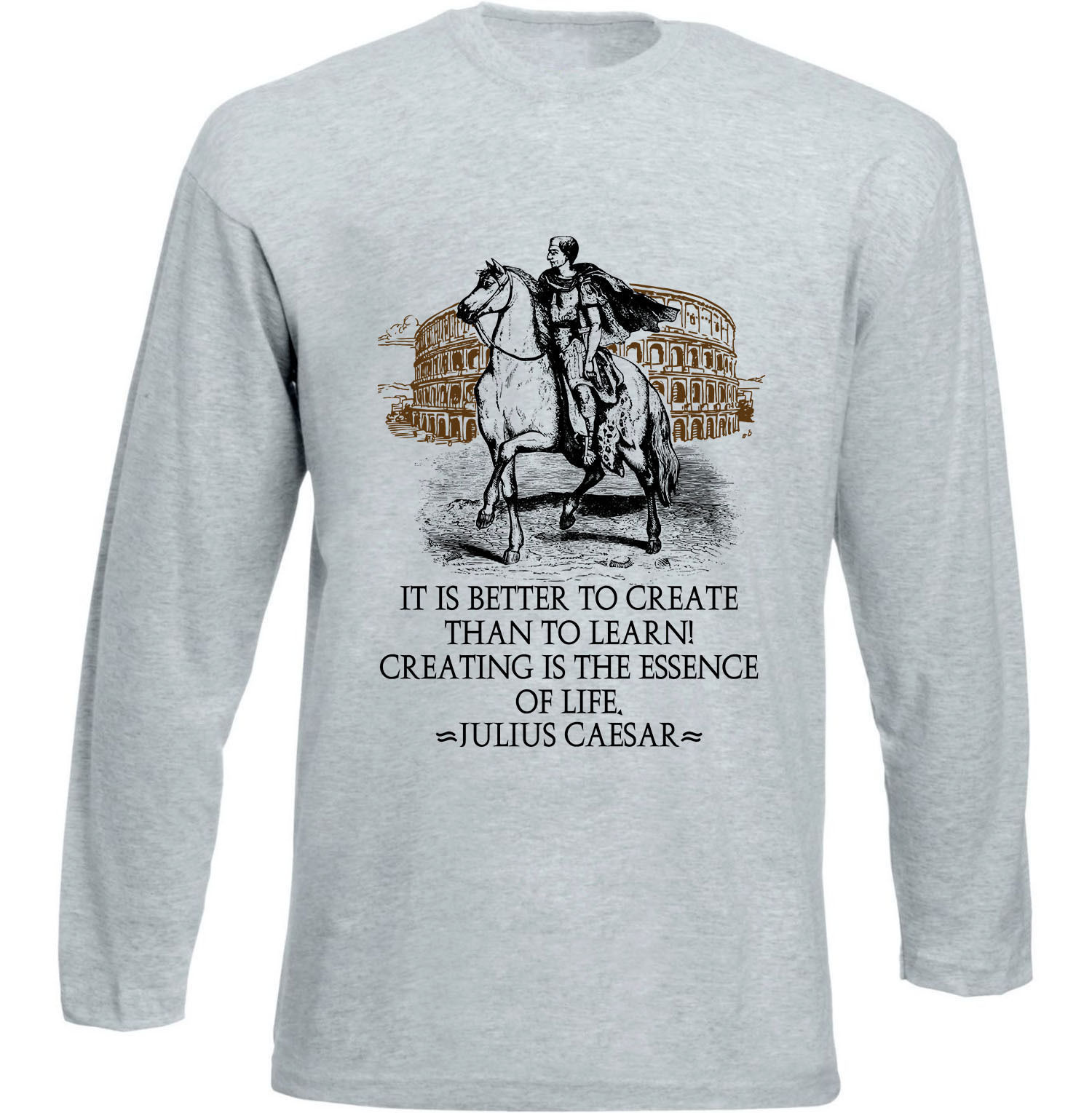 JULIUS CAESAR IT IS BETTER - NEW COTTON GREY TSHIRT