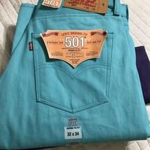 Levis 501 Original Fit Men's Jeans Straight Leg Button Fly W32 x L34 - $311,51 MXN+