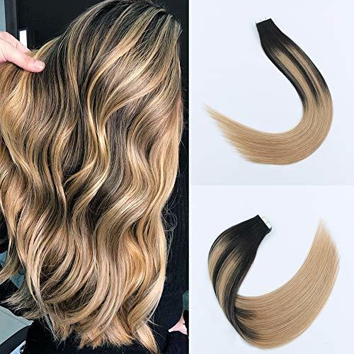 Sixstarhair Premium Balayage Tape In Hair Extensions New Trend Balayage Dark Bro