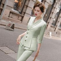 Women's High Quality Solid White Blazer Jacket Business Suit image 1